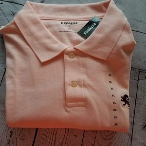 Mens Size Xlarge Express Peach Polo - NWT